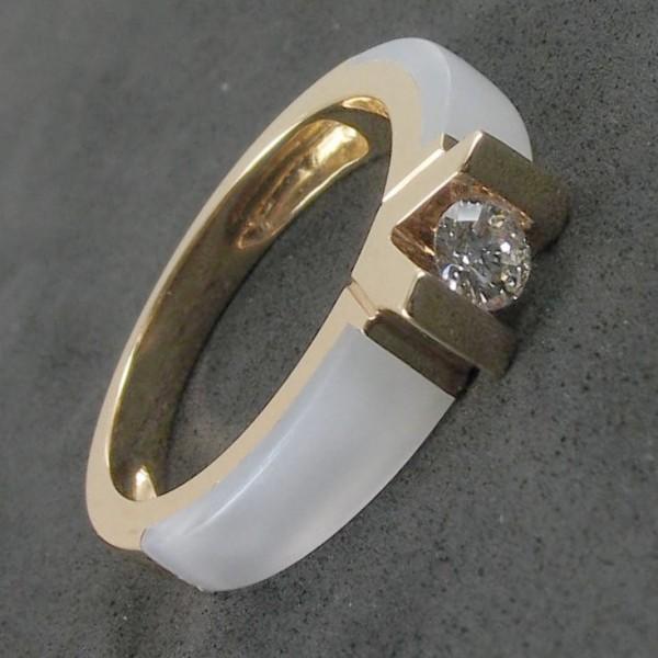 bague diamant clozeau