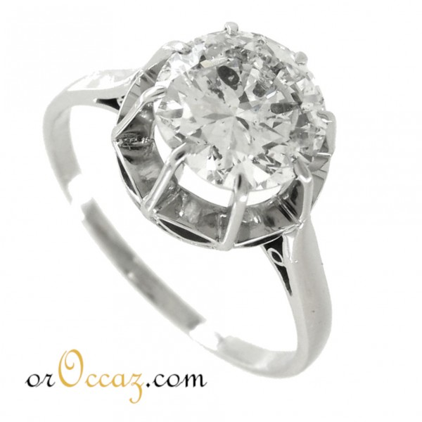Solitaire diamant +/-1.86ct