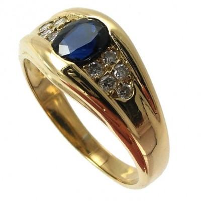 Bijoux D Occasion Oroccaz Bague Saphir Et Diamants