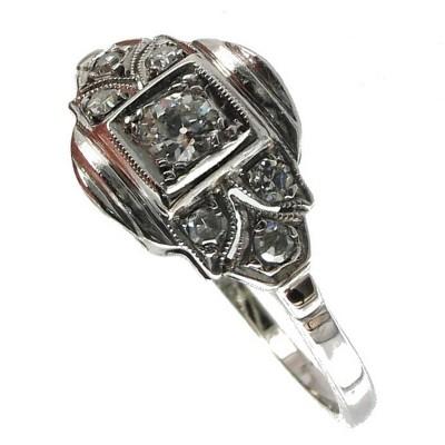Bijoux D Occasion Oroccaz Bague Diamants Art Deco