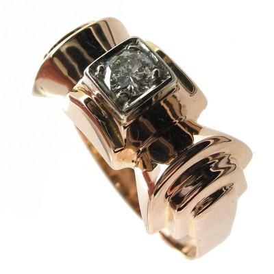 bijoux d occasion oroccaz bague ancienne solitaire diamant. Black Bedroom Furniture Sets. Home Design Ideas