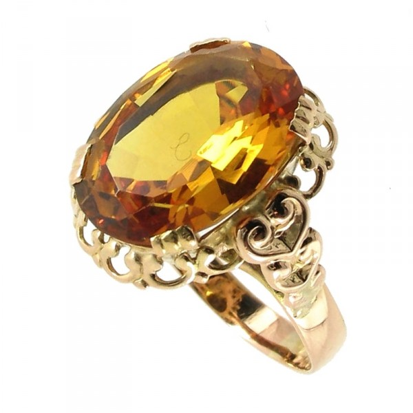 bague or citrine occasion