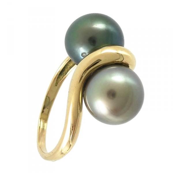 Bijoux D Occasion Oroccaz Bague Perles De Tahiti Toi Et Moi